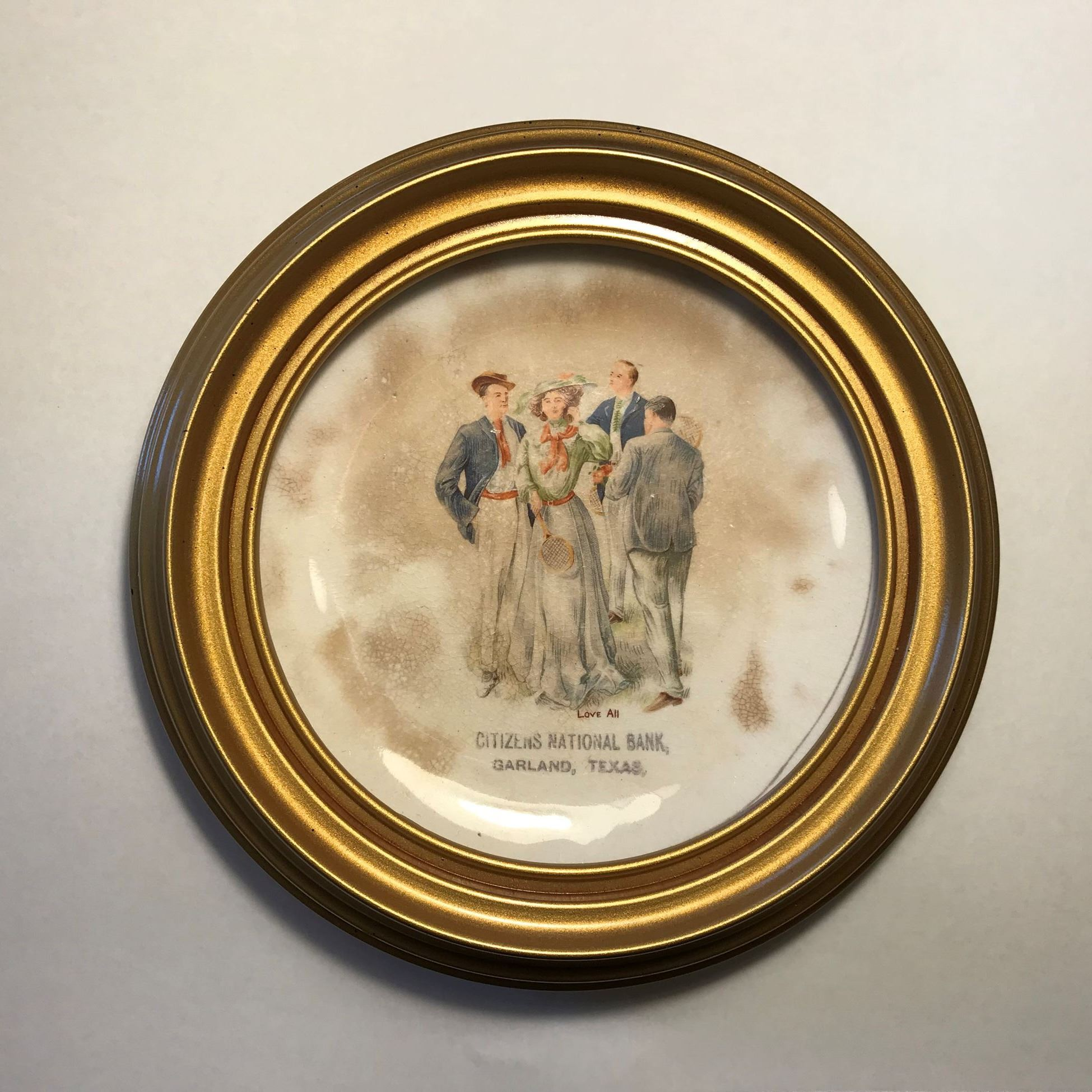 First National Bank commemorative plate